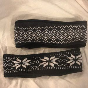 Set of 2 fleece lined headbands gently worn once